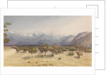 Two Leagues from Santa Rosa [Chile], Jany 14th 1851 [with the Andes and Aconcagua] by Edward Gennys Fanshawe