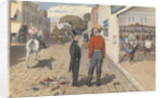 "Mr Rust, editor the ""Pacific Star"", and his brother, Dr Rust, outside a saloon in Sacramento City [California], September 1851 by Edward Gennys Fanshawe"