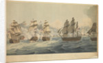 Engagement with the combined French and Spanish fleets off Cape Trafalgar, on the 21 October 1805 by John Thomas Serres