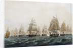 British frigates off the island of Lissa in the Adriatic, 13 March 1811 by Thomas Whitcombe