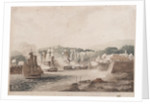 Taking the Island of Curacoa, by Sir Chas Brisbane and his Officers under his Command, Captns Lydard, Wood and Bolton, Commanding H.M.S's Arethusa, Latona, Anson and Fisguard [Fisgard] Jan 1 1807 by Lydard