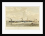 The iron steamers 'Meteor' and 'Prince of Wales' leaving Brunswick Wharf, Blackwall by S. D. Skillett