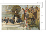 Good-Bye My Lads!' Nelson leaving Portsmouth to sail for Trafalgar on the 'Victory by Fred Roe