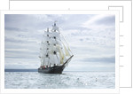 Brig 'Roald Amundsen' at the start of the Liverpool Tall Ships Race 2008 by Richard Sibley