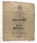 Playbill for Taming of the Shrew by unknown