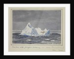 Iceberg with penguin rookery - near Bouvet Island, Nov 1926 by Sir Alister Hardy