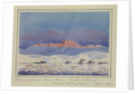 Evening glow on Mount Parry, Brabant Island, Palmer Archipelago, March 1927 by Sir Alister Hardy