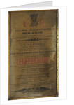 Playbill produced on board HMS 'Intrepid' during the Franklin Search Expedition by Melville Island Press