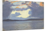 Distant view of Jamaica from the sea by John Everett