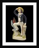 Earthenware flat-backed figure of a sailor by unknown