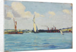 A sailing barge by John Everett