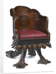 Chair made from 'Royal George' timber by Henry Whitaker; Thomas Wood Jnr