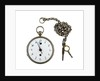 Silver pocket watch and chain by Godemars Freres et Capt.
