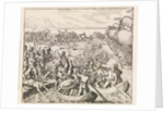 Americus Vespucci's first voyage. The Island of Iti by Johann Theodor de Bry
