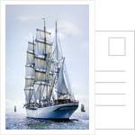 Norwegian three-masted barque 'Statsraad Lehmkuhl' during Turku Tall Ships Race 2009 by Richard Sibley