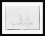 Sketch of HMS Avon Jany 14th 1848 by Lieutenant Robert Strickland Thomas