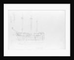 A sketch of HMS 'Camperdown' by Robert Strickland Thomas