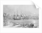 HMS 'Melpomene' at Malta, 1860 by C.J.F. Ewart