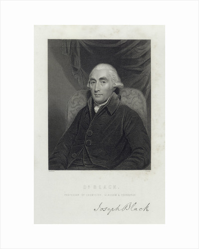 Joseph Black, Scottish chemist, c1780s by C Cooke