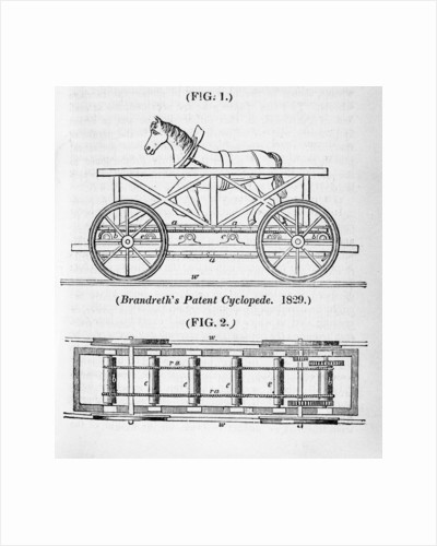 Brandreth's horse powered locomotive Cycloped, 1829 by Unknown