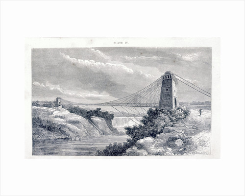 Falls View Suspension Bridge, Niagara, North America, c1869-c1889 by Unknown