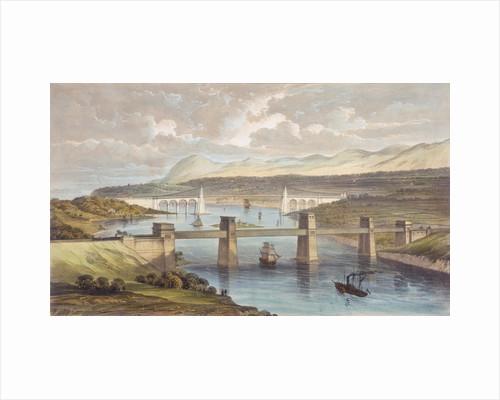 The Britannia Tubular Bridge, Menai Strait, Wales, c1850 by Unknown