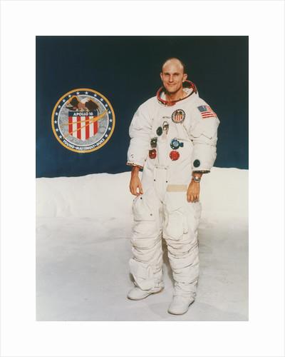 Apollo 16 astronaut Thomas Mattingly in spacesuit, 1971 by Unknown