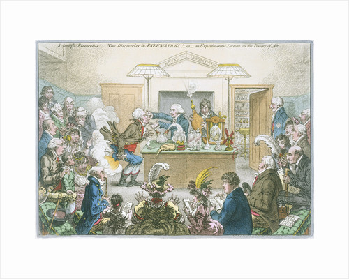 Chemical lecture, 1802 by James Gillray