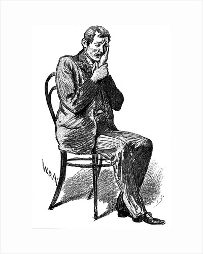 Hypnosis subject suffering from imaginary toothache, 1891 by Unknown