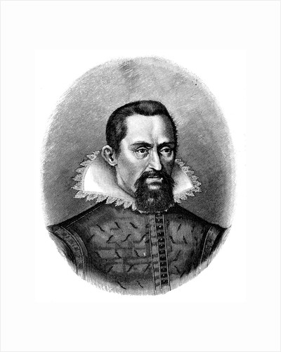 Johannes Kepler, German astronomer, early 17th century, (c1903) by Unknown