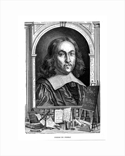 Pierre de Fermat, 17th century French mathematician, 1870 by Unknown