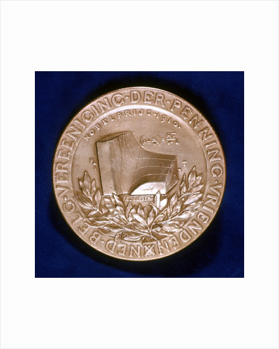 Medal commemorating Dutch physicist Johannes Diderik van der Waals by Unknown