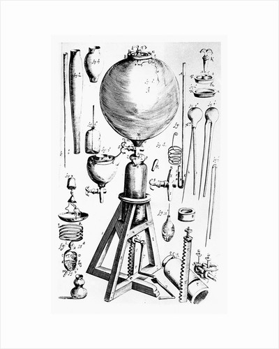 Air pump built for Robert Boyle by Robert Hooke, 1660 by Unknown