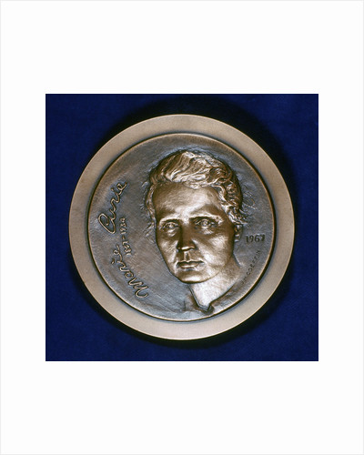 Medal commemorating Marie Sklodowska Curie, Polish-born French physicist, 1967 by Unknown