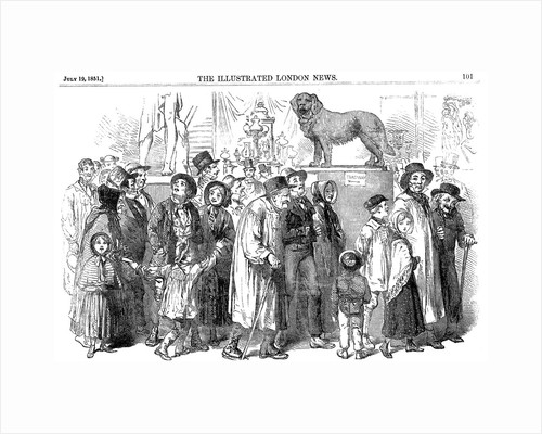 Agricultural workers and their families at the Great Exhibition of 1851 by Unknown