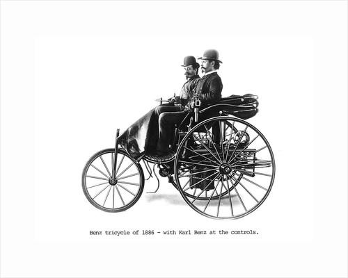 Three-wheeled Benz motor car, 1886 by Unknown