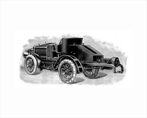 Renard's tractor unit, showing towing attachment for trailers, French, 1904 by Unknown