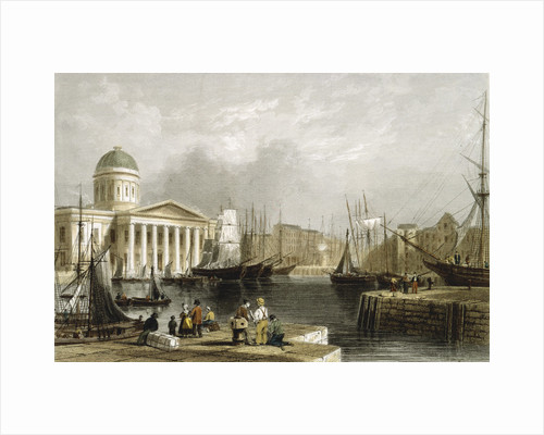 Canning Dock, Liverpool, showing the Custom House, 1841 by Unknown