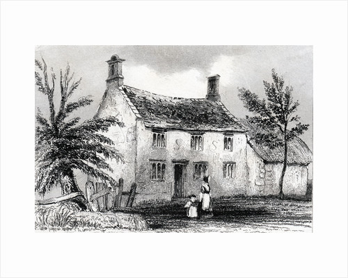 Woolsthorpe Manor, near Grantham, Lincolnshire, birthplace of Sir Isaac Newton, 1840 by Unknown