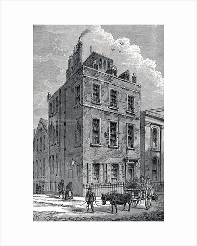 Sir Isaac Newton's house on the corner of Orange and St Martin's Streets, London, c1880 by Unknown