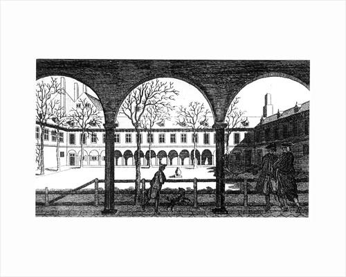Courtyard of Gresham College, London, 18th century by Unknown