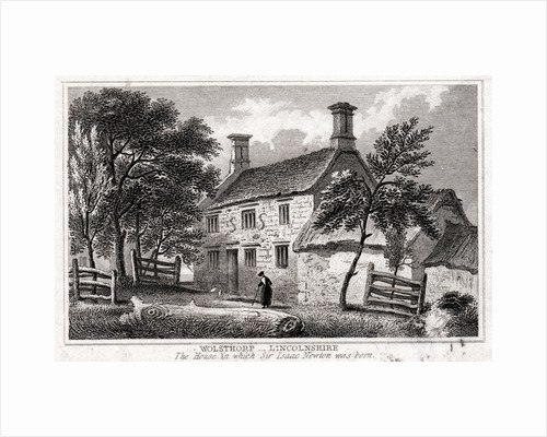 Woolsthorpe Manor, near Grantham, Lincolnshire, birthplace of Sir Isaac Newton, early 19th century by Unknown