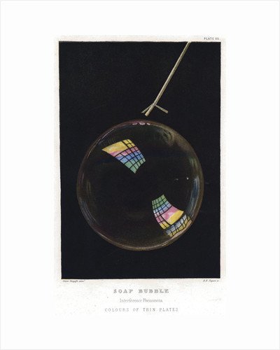 Thomas Young (1773-1829), Thin films illustrated by soap bubble, 1872 by Unknown