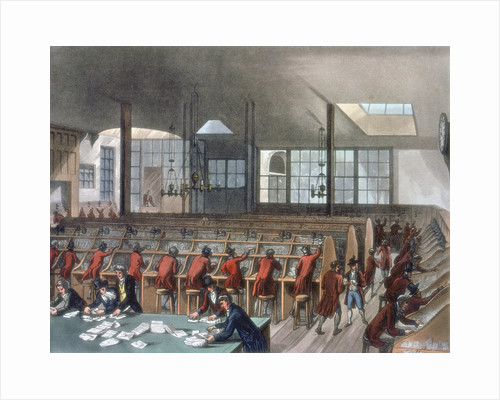 General Post Office, Lombard Street, London, 1808 by Thomas Rowlandson