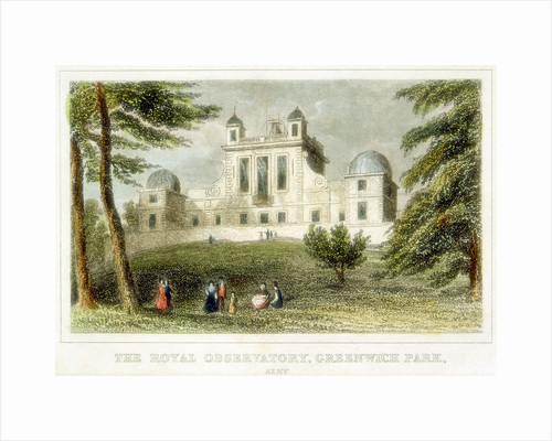 The Royal Greenwich Observatory, Flamsteed House, Greenwich Park, London, c1835 by Unknown