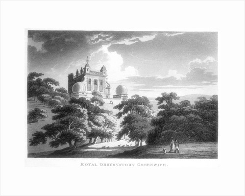 The Royal Greenwich Observatory, Flamsteed House, Greenwich Park, London, c1820 by Unknown
