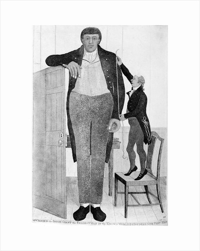 Mr O'Brien, the Irish Giant, the Tallest Man in the Known World, 1803. by John Kay