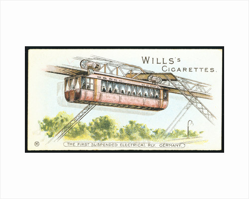 Electric overhead monorail at Barmen-Elberfeld (now Wuppertal), Germany,1901 by Unknown