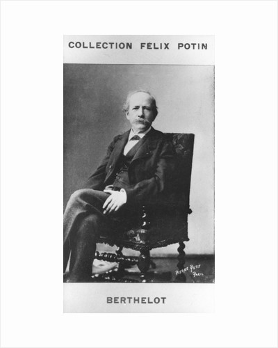 Pierre Eugene Marcellin Berthelot, French organic chemist and politician, c1885 by Pierre Petit