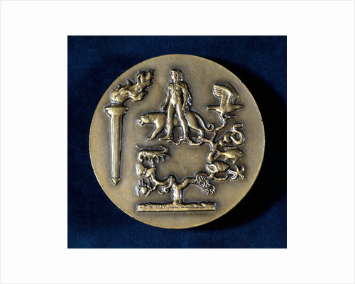 Medal commemorating Jean Baptiste de Monet, Chevalier de Lamarck, French biologist, 20th century by Unknown